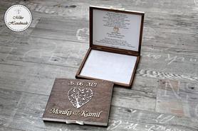 Pudełko na merci z prośbą o błogosławieństwo - rustykalne