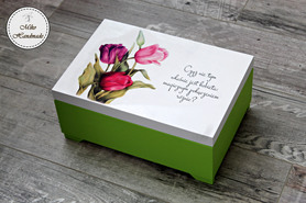 Duża szkatułka na biżuterię - tulipany