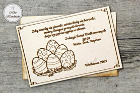Naturalna kartka Świąteczna z Twoimi życzeniami - Pisanki