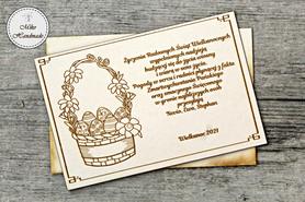 Naturalna kartka Świąteczna z Twoimi życzeniami - Koszyczek