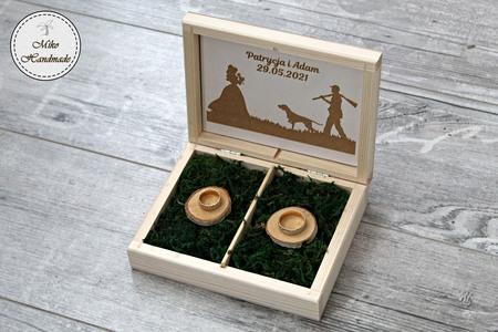 Pudełko na obrączki - myśliwy (1)