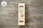 Pudełko na wino dla Matki Chrzestnej - fioletowe róże (1)