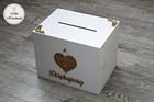 Komplet pudełek ślubnych + wieszaki (ażurowe serce) (6)