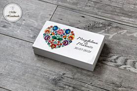 Pudełko na pieniądze dla Pary Młodej - łowickie serce