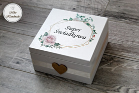 Pudełko z podziękowaniem dla Świadkowej + Kubek (Wzór. 1)