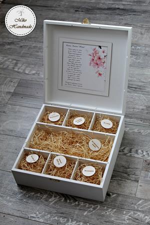Pudełko na prezent ślubny (Duże) - Różowe kwiaty (2)