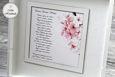 Pudełko na prezent ślubny (Duże) - Różowe kwiaty (4)