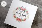 Pudełko na prezent ślubny (Duże) - Różowe kwiaty (3)