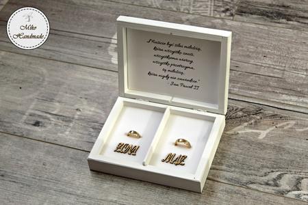 Pudełko na obrączki - I ślubuję Ci miłość (2)