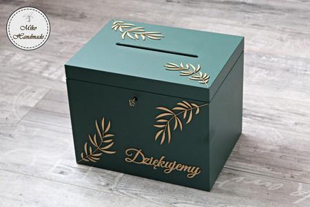 Pudełko na koperty - liście (wybierz kolor pudełka) (1)