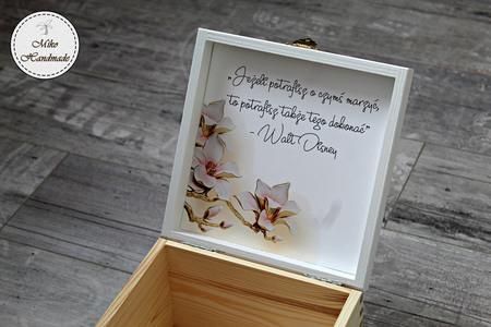 Pudełko z imieniem - beżowe kwiaty (4)