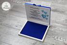 Pudełko na czekoladki Merci - podziękowanie ślubne - niebieskie kwiaty (2)