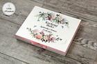 Pudełko na czekoladki Merci - podziękowanie ślubne - pastelowe róże (3)