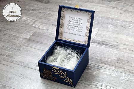 Eleganckie pudełko na prezent - liście (2)
