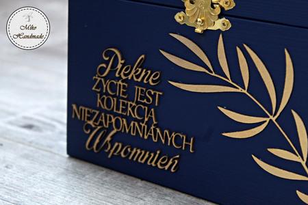 Eleganckie pudełko na prezent - liście (3)