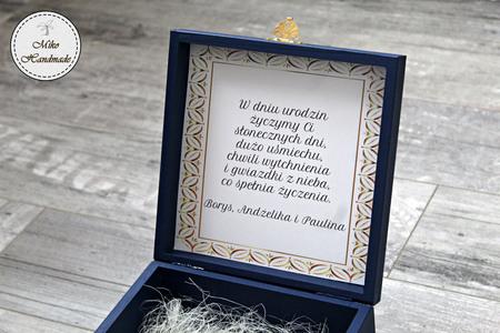 Eleganckie pudełko na prezent - liście (4)