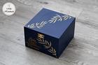 Eleganckie pudełko na prezent - liście (1)
