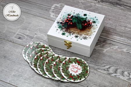 Szkatułka Bożonarodzeniowa + podkładki (1)