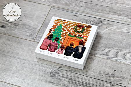 Pudełko z życzeniami Świątecznymi (Rodzina) - Wybierz swój wygląd (1)