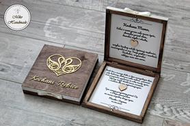 Pudełko z prośbą o błogosławieństwo-brązowe Kochani Rodzice