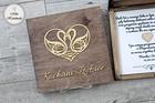 Pudełko z prośbą o błogosławieństwo-brązowe Kochani Rodzice (2)