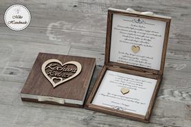 Pudełko z prośbą o błogosławieństwo - Kochani Rodzice (w sercu)